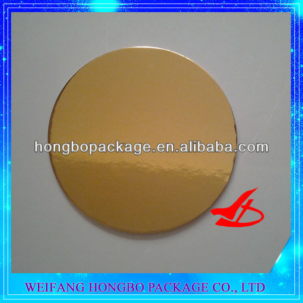 30cm glossy gold cake board circles