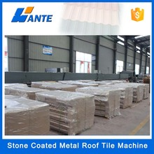Double Roman Tiles Type and Color Steel Plate Material colorful stone coated steel roof tile making machine