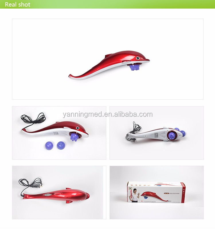 handheld electric body massager machine golden