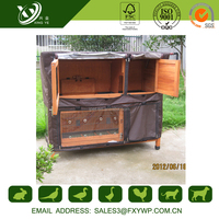 2016 best price beautiful strong large wooden triangle rabbit hutch for sale