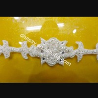 Wholesale DIY craft trim wedding bridal dress ribbon belt Crystal rhinestone trimming