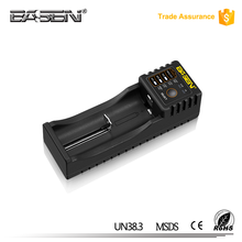 Unique Basen Black BS1 external single standard battery charger for 14650/16340/17500/17670/18350/18500/18650/18700 battery