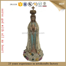 praying hand resin virgin mary garden statues