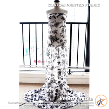 long dress chiffon new style chiffon flower fabric