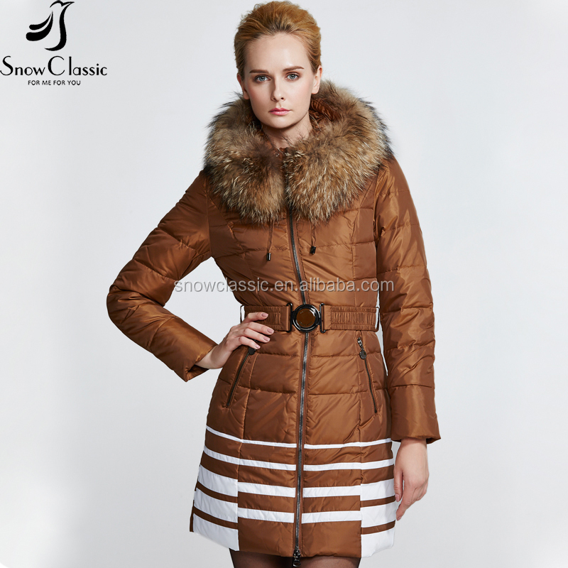 2017 latest Chinese style women long duck down coat for the winter