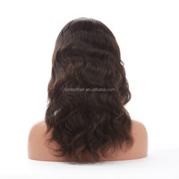 top quality stock curly unprocessed indian hair lace front wig
