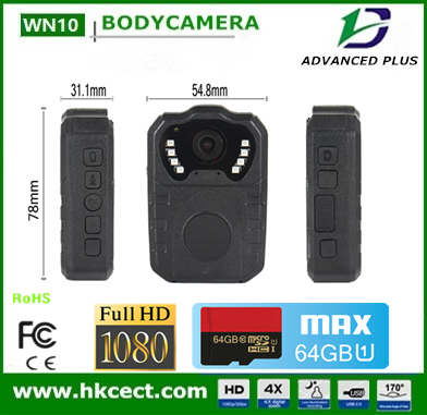 Voice recorder police body camera HD 1080P /8IR night vision/AV output Police Video /Audio DVR
