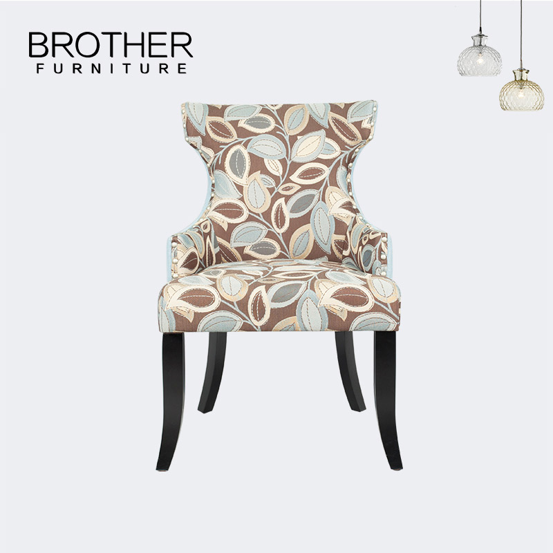 Promotion elegant dining furniture fabric comfortable armchair restaurant <strong>chair</strong>
