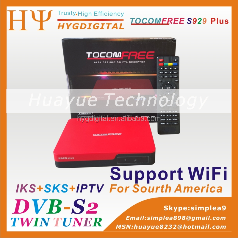 tocomfree s929 plus Original azamerica s1008 satellite receiver twin tuner iks and sks receiver azamerica s1005 azamerica s1001