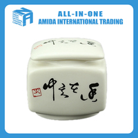 High quality mini white porcelain Chinese calligraphy design tea pot
