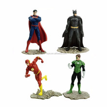 PVC plastic Superman figurine, superhero action figure manufacture