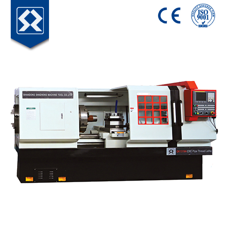 QK1319 High Quality Large Spindle CNC Pipe Thread Lathe Machine for Repair of Pipe Threads on Rotary Shouldered Connections