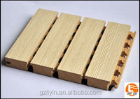 sound absorption mdf wooden grooved acoustic wall panel soundproof and fireproof materials for auditorium and gym