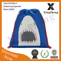 New product backpack drawstring polyester net shopping bags