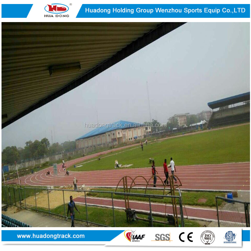 Stadium 400m synthetic prefabricated rubber running track rolls
