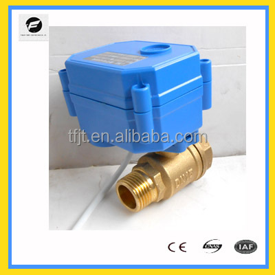 mini electric motorizedball water valve CWX-15Q motorized ball valve for solar water heaters,washing machines,water heaters