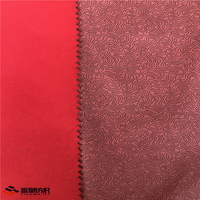 Waterproof breathable softshell polyester peach skin fabric laminated with printed tpu film