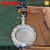 High quality DN300 ventilation flange Flue gas pneumatic butterfly valve