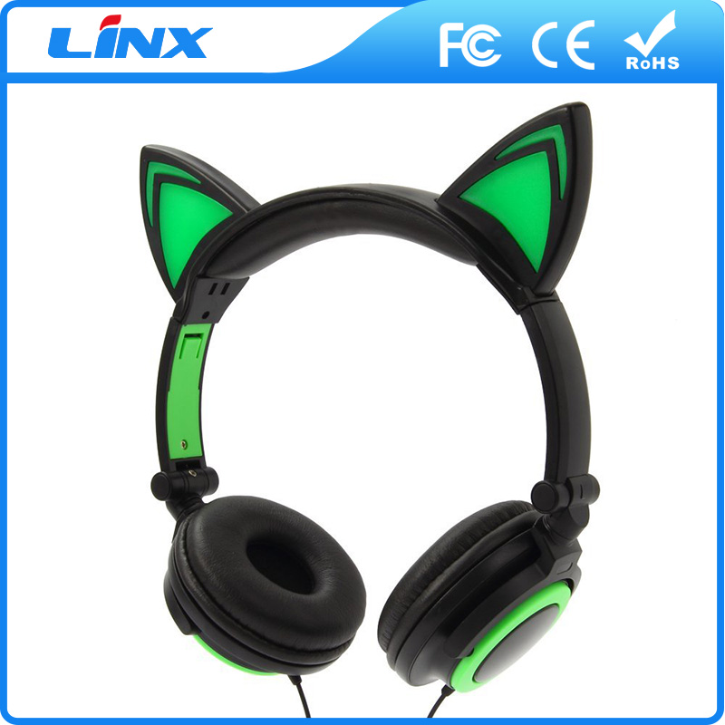Stretchable led light headphones for all Mobile Phone