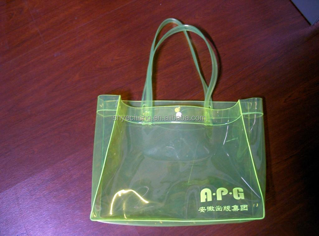 transparent pvc cosmetic bag round cosmetic bag shopping plastic bags