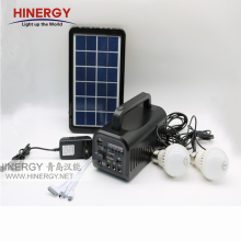 Cheap price solar energy kit with radio for fan, lights, music player