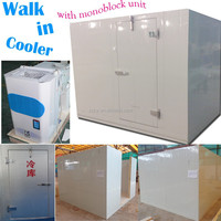 Refrigerated walk in cooler with swing door