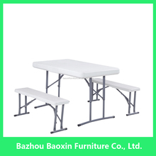 hot sale folding white plastic outdoor beer table with benches