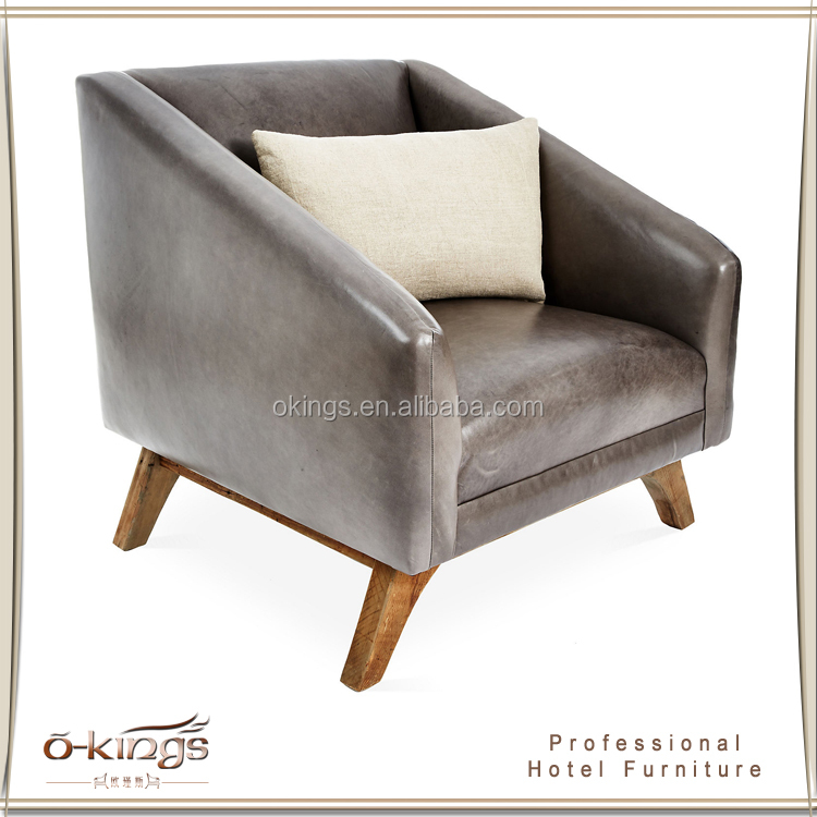 leather single sofa chair luxury hotel furniture factory buy single