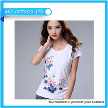 custom logo fashion printed high quality sales well t-shirt embossing print