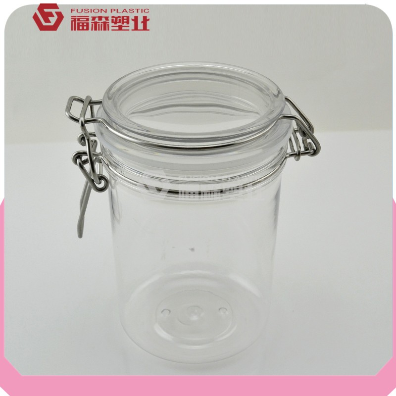 Hot sell PET 400ml 500ml seal container/food packaging pots/plastic seal pots