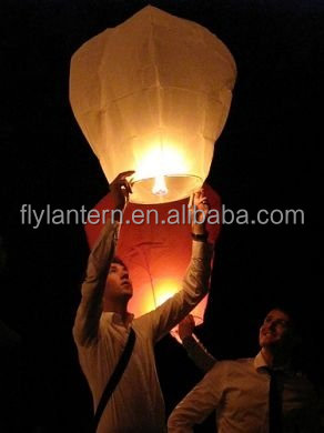 Select Color Sky Fly Lanterns Candle Lamp for Lucky Wish Party Wedding decoration