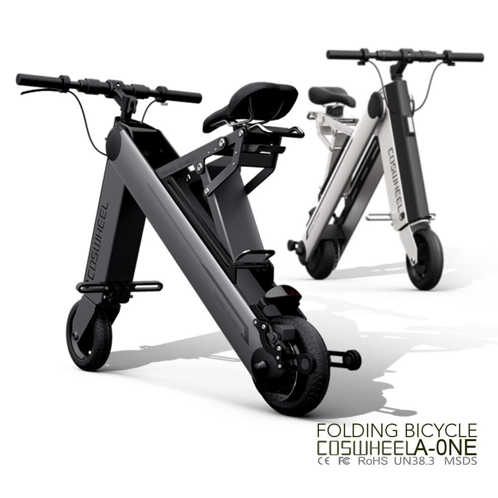 Electric Folding Bike a one bike Coswheel 2 wheel smart electric foldable scooter easy to carry