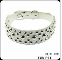 Luxury dog collar with decoration studs and pearls direct supplier