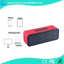 New Products 2015,super bass 6w output 2.0 CH bluetooth speaker,Top quality Leather bluetooth speaker