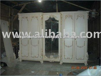 VENEERE 6 Door Design Bedroom Mirror Wardrobe Furniture