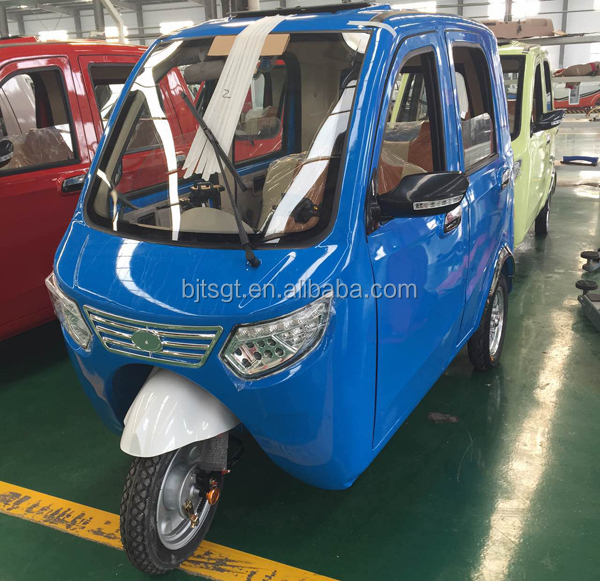 Electric battery power rickshaw for handicapped tricycle