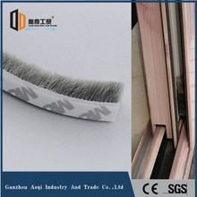 Sliding glass door seal wool pile weatherstrip with self-adhesive