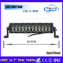 2017 Factory wholesale 16.7 inch hi low Headlamps offroad led lights accessories car led light bar 48W 96W 160W 240W 320W 400W