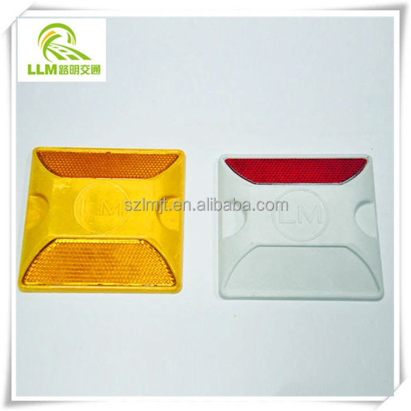 Waterproof yellow Solar plastic road stud