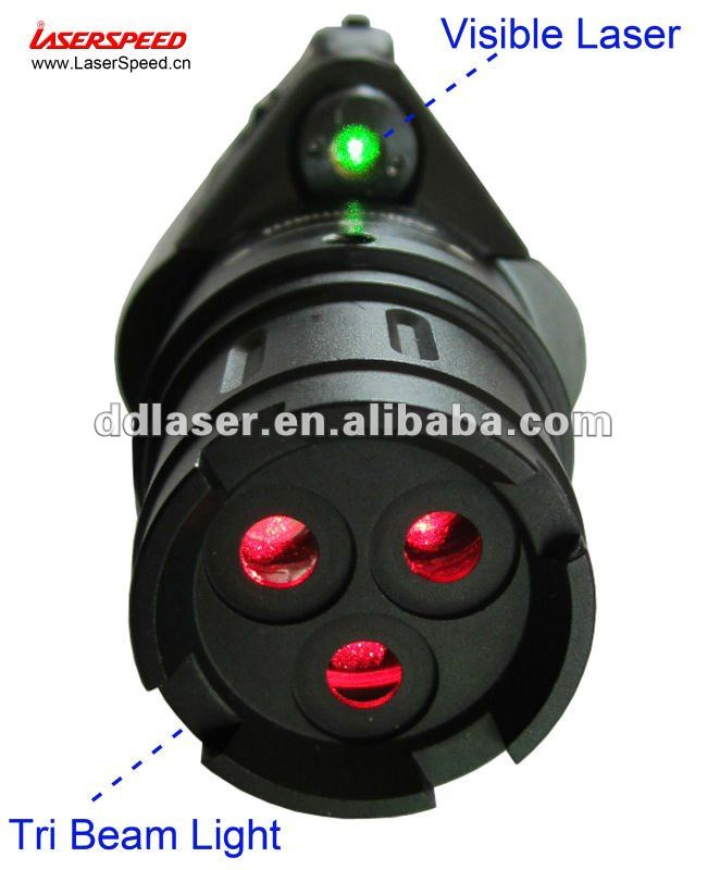 Compact Tri Beam Red Laser and Green Laser Sight combo, military light