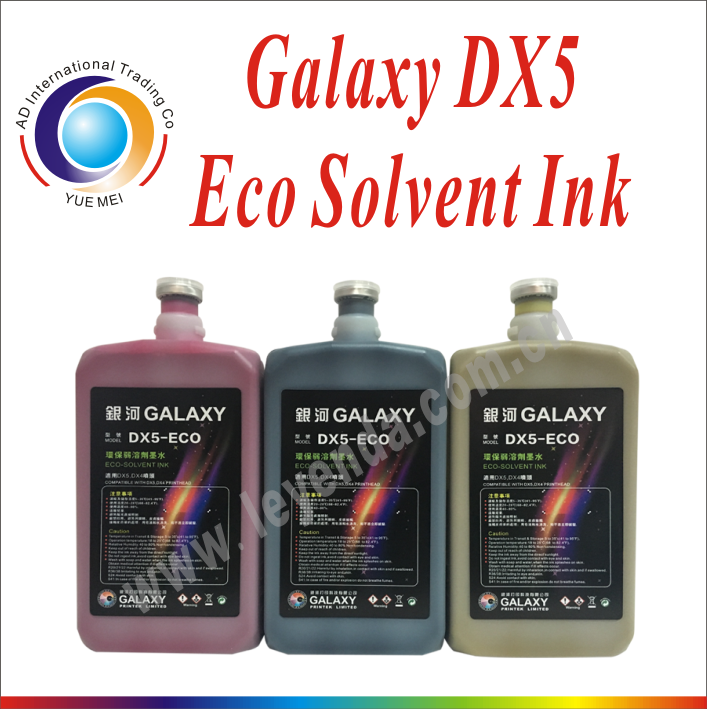 Galaxy DX5 eco solvent ink on sale! can send sample! 4 color C/M2/Y/<strong>K</strong>