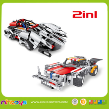 Play indoor toys 2 in 1 education block rc car for children