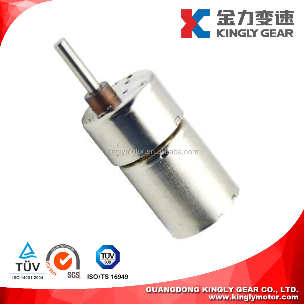 37mm Gear Reduction 12v DC Motor 300rpm Gear Motor