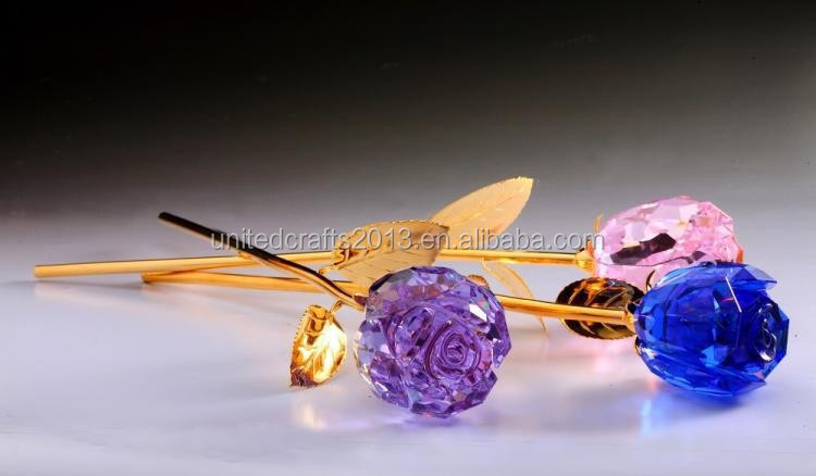Visible gifts crystal glass rose for ideal gifts