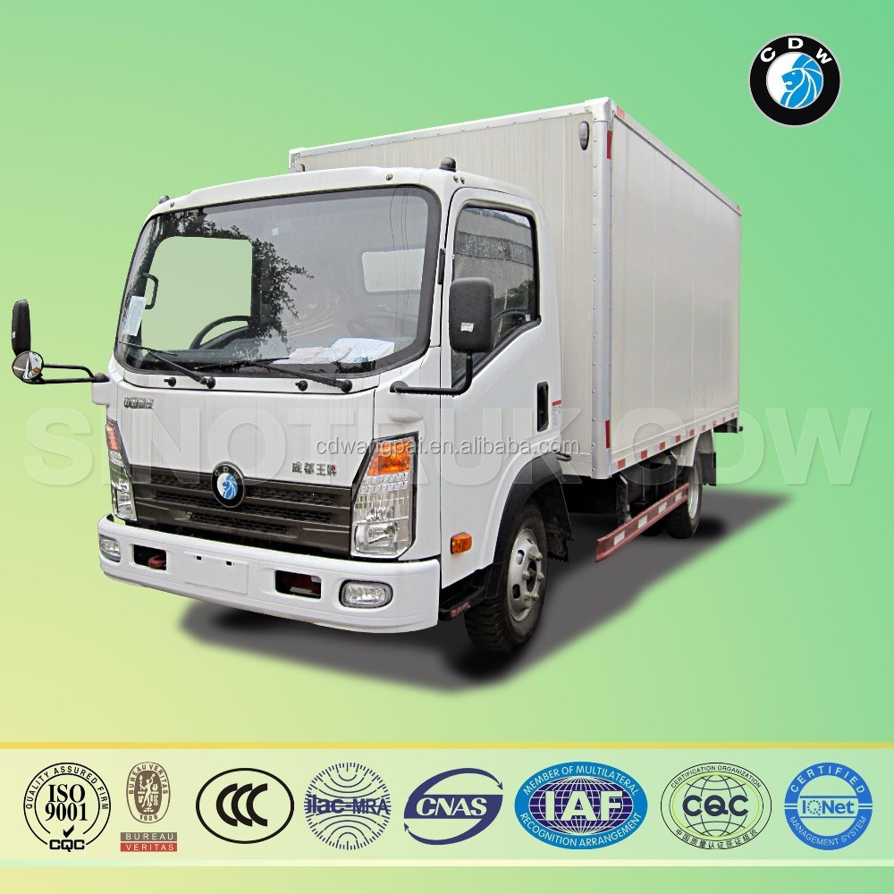sinotruk CDW china cargo van chassis panel van ready sale