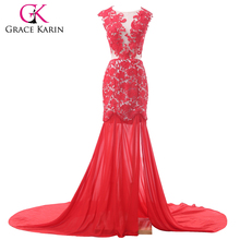 Fashionable Style Real Red Lace Real photo Beautiful Wedding Dresses CL6120