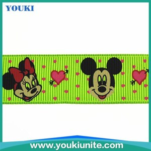cartoon character printed grosgrain ribbon in ribbons