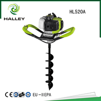 Mini Tree Planting Earth Auger Machine Hand Digging Machines Driller Power Hole Digger Drill Bit for Sale HL520A