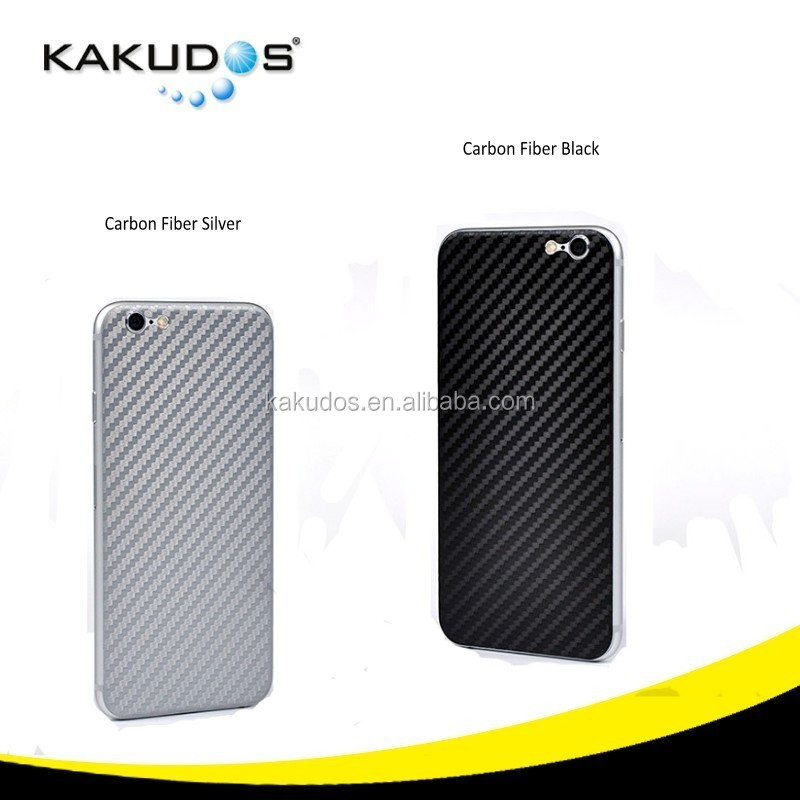 OEM cell phone removable back carbon fiber skin sticker for iphone 6