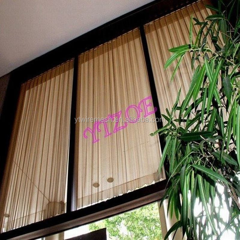 Decorative Hanging Room Dividers Metal Mesh Curtains